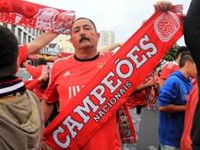 905Adeptos do Benfica fazem a festa do 35º campeonato nacional em Ponta Delgada