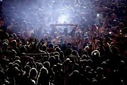 Adeptos e equipa fazem a festa no Marquês