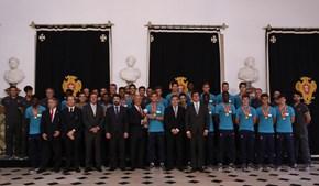 Marcelo Rebelo de Sousa elogiou a qualidade dos jovens futebolistas lusos e fez um pedido