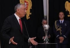 """""""A sorte protege os audazes mas não foi sorte: foi mérito. Grande vitória de Portugal no fim do mundo', afirmou o Presidente da República"""