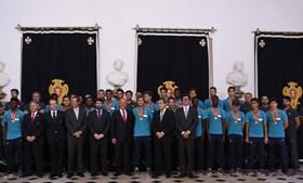 Comitiva da seleção nacional de sub-17 foi recebida no Palácio de Belém pelo Presidente da República, Marcelo Rebelo de Sousa