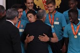 Marcelo Rebelo de Sousa elogiou a qualidade dos jovens futebolistas lusos