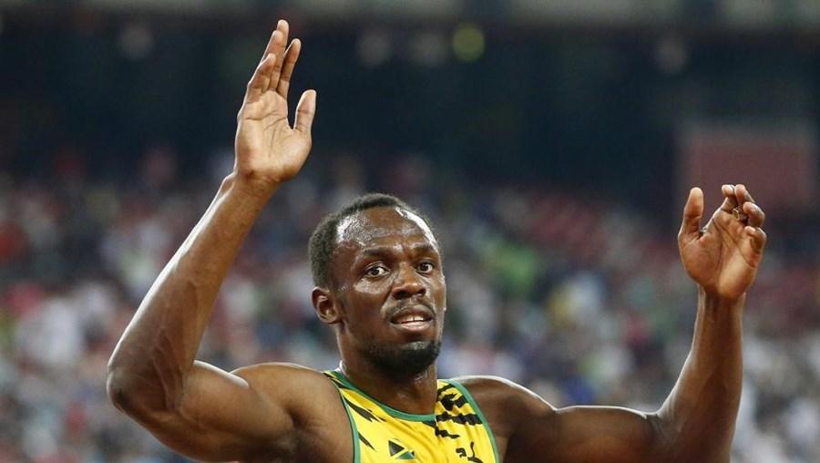 O atleta jamaicano Usain Bolt