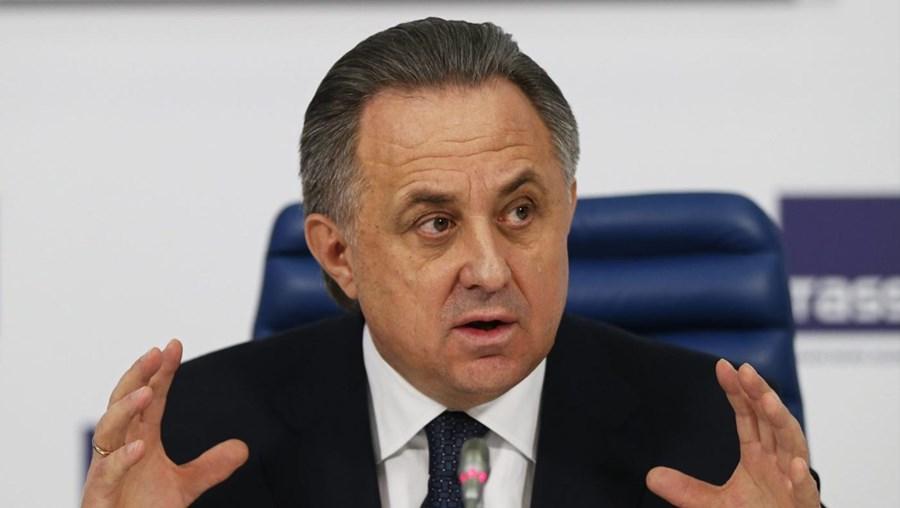 O ministro dos Desportos da Rússia Vitaly Mutko