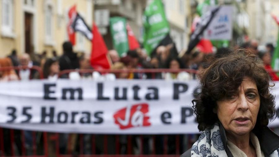 A coordenadora da federação dos sindicatos da função pública Ana Avoila