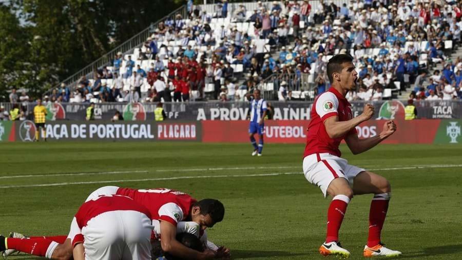 Jogadores do Sporting de Braga festejam