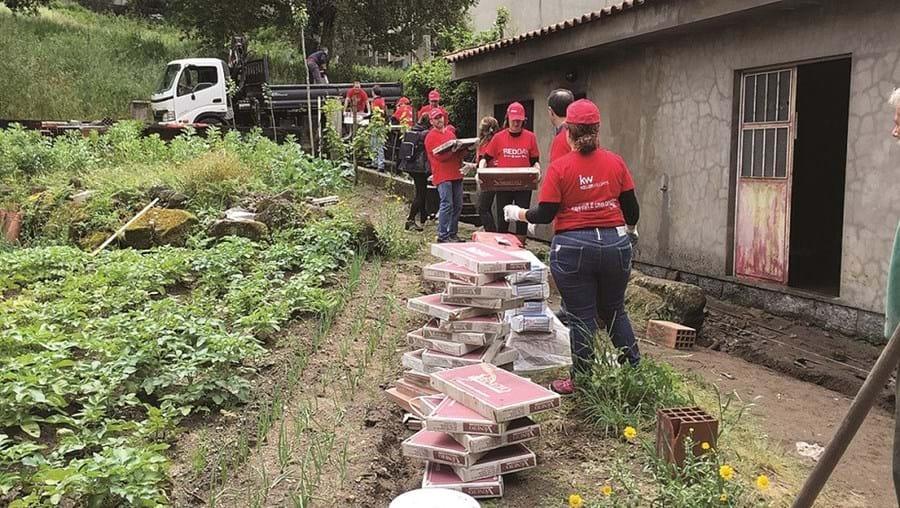 Voluntários estiveram durante um dia a realizar obras nas habitações de cinco famílias carenciadas do concelho
