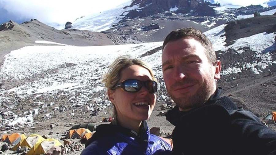 Maria Strydom e o marido Robert Gropel