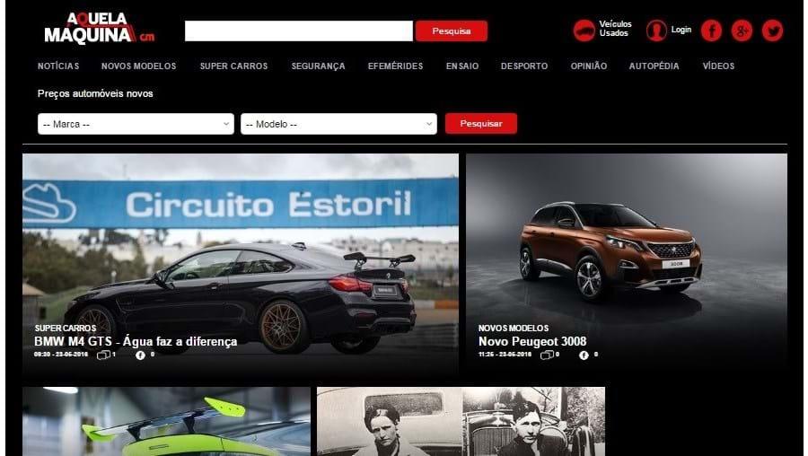 Novo site pode ser consultado em www.aquelamaquina.pt