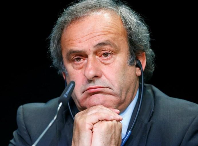 O antigo presidente da UEFA Michel Platini