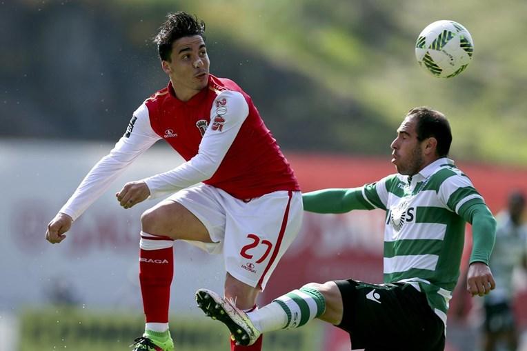 Josué e Bruno César durante o Sp. Braga-Sporting