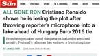 Atitude de Ronaldo torna-se notícia pelo Mundo