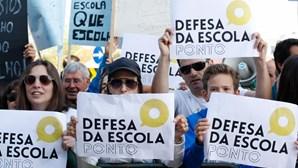 Manifestação contra fim dos contratos nas escolas privadas