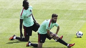 Jogadores da seleção portuguesa com a tarde livre