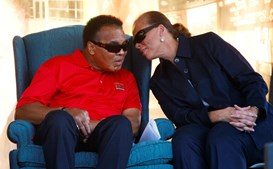 Muhammad Ali e a sua última mulher Yolanda'Lonnie' Williams