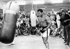 Muhammad Ali treina para um combate