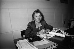Maria José Nogueira Pinto, diretora da Maternidade Alfredo da Costa, na reabertura da unidade, em fevereiro de 1991