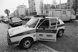 Uma das primeiras viaturas de emergência rápida do INEM, em 1991