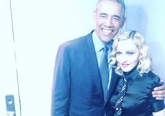 Madonna com Barack Obama