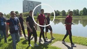 Cristiano Ronaldo seguia acompanhado por seguranças