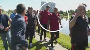 Jornalista da CMTV, Diogo Torres, aproxima-se de Cristiano Ronaldo