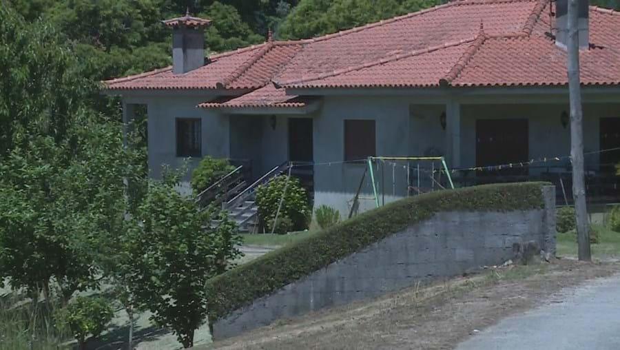 Casa onde ocorreu o crime