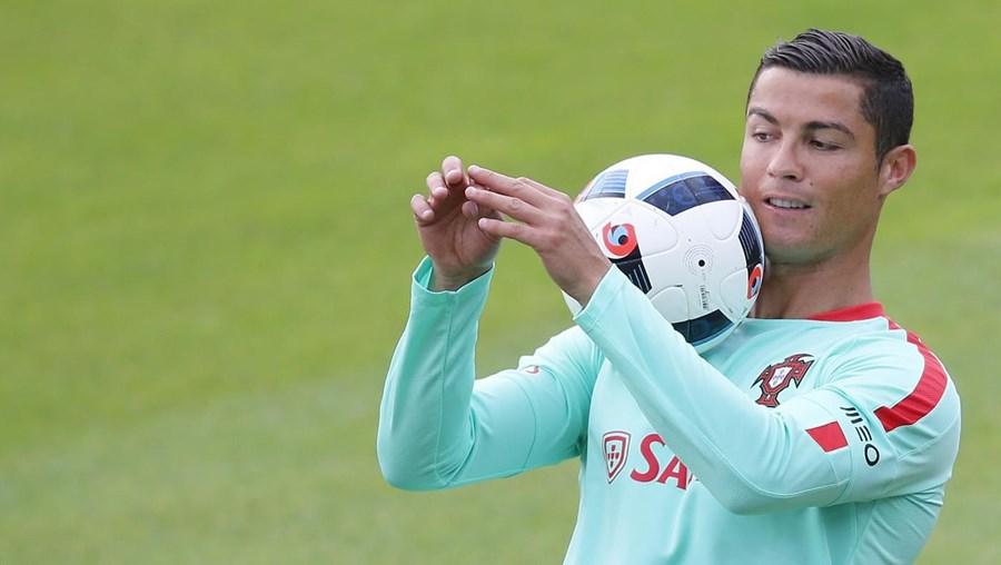 O internacional português Cristiano Ronaldo