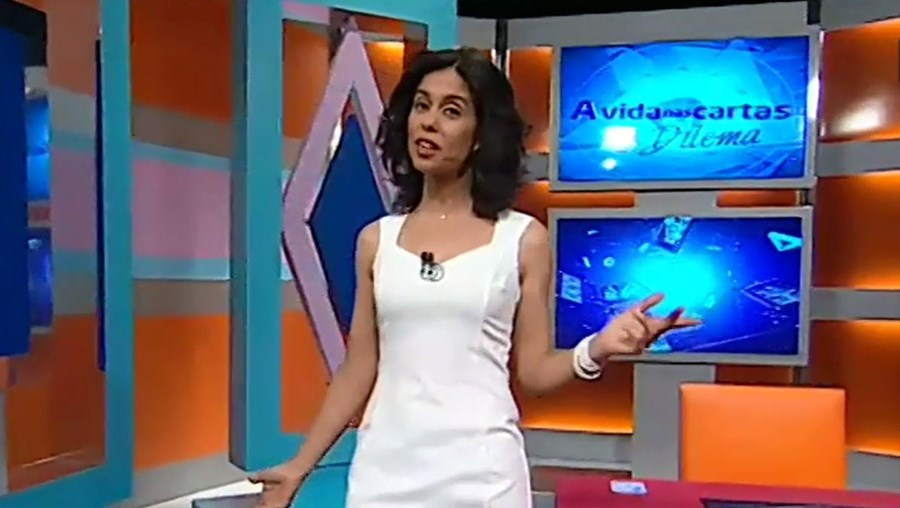 Carla Duarte no programa da SIC. Taróloga foi dispensada pelo canal