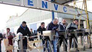 Ex-trabalhadores dos Estaleiros de Viana manifestaram-se em Lisboa