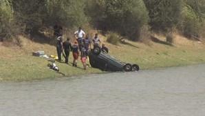 Queda de carro em barragem mata casal de septuagenários