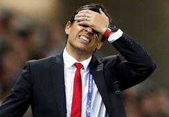 Chris Coleman, o treinador do País de Gales, também não disfarçou o mau momento que vivia