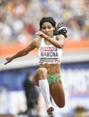 Patrícia Mamona durante a competição que aconteceu este domingo