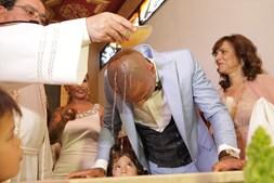 A cerimónia de batismo de Ricardo Quaresma e dos filhos Kauana e Ricardo decorreu na igreja de S. Pedro, em Sintra