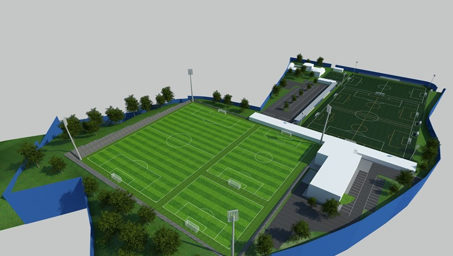 Clube prevê construção de vários campos de futebol para a equipa profissional, mas também para as camadas jovens