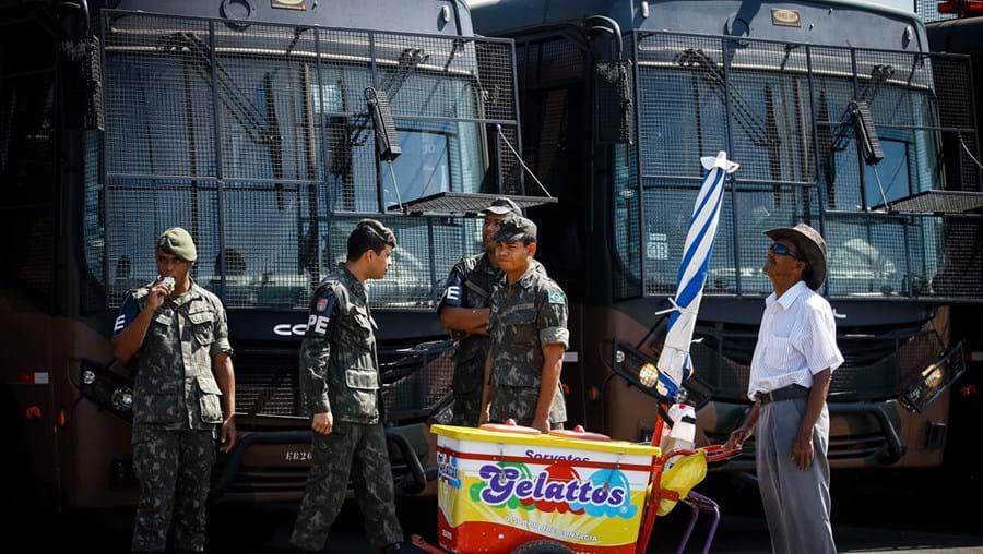 Autoridades reforçaram a segurança junto das instalações olímpicas