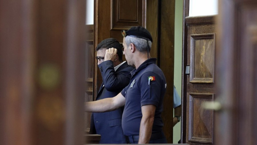 José Carriço numa das sessões do julgamento que decorreu no tribunal de Santarém