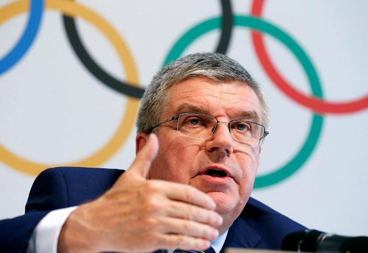 O presidente do Comité Olímpico Internacional (COI) Thomas Bach