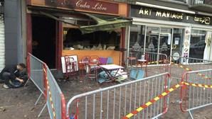 As imagens da destruição do bar de Rouen