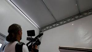 Tiro disparado sobre sala de imprensa nos Jogos