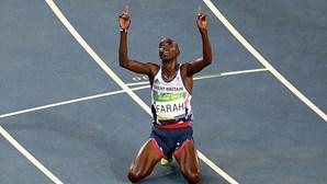 Farah conquista ouro apesar de cair durante a corrida