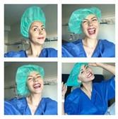 Sofia Ribeiro no bloco operatório do IPO antes de ser operada ao cancro da mama