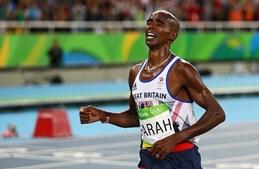 Mo Farah conquistou o ouro nos 10 mil metros mesmo depois de ter caído durante a prova