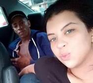 Jady Duarte e o marido, morto em março deste ano