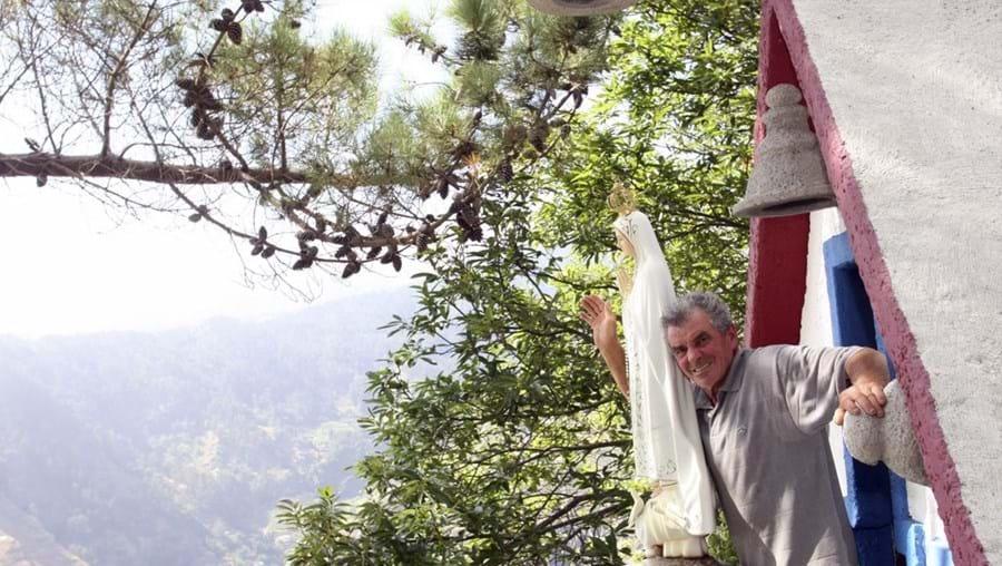 Manuel Macedo na capela-miradouro da Sagrada Família