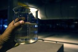 A agua à saída da ETAR