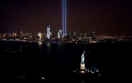 A 11 de Setembro de 2013, dois anos após os ataques, acenderam-se luzes no sítio onde estavam as torres