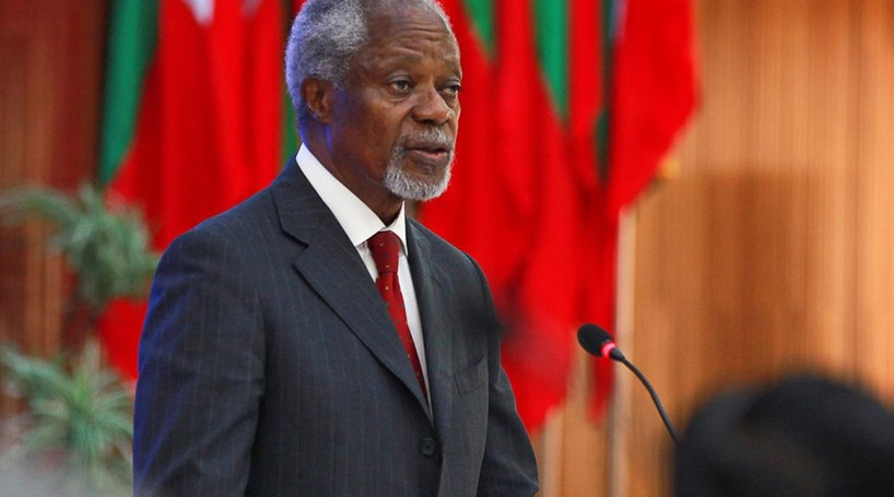 Resultado de imagem para Morreu Kofi Annan, antigo secretário-geral das Nações Unidas