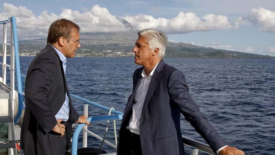 Duarte Freitas recebeu em agosto a visita do líder do PSD nacional, Pedro Passos Coelho