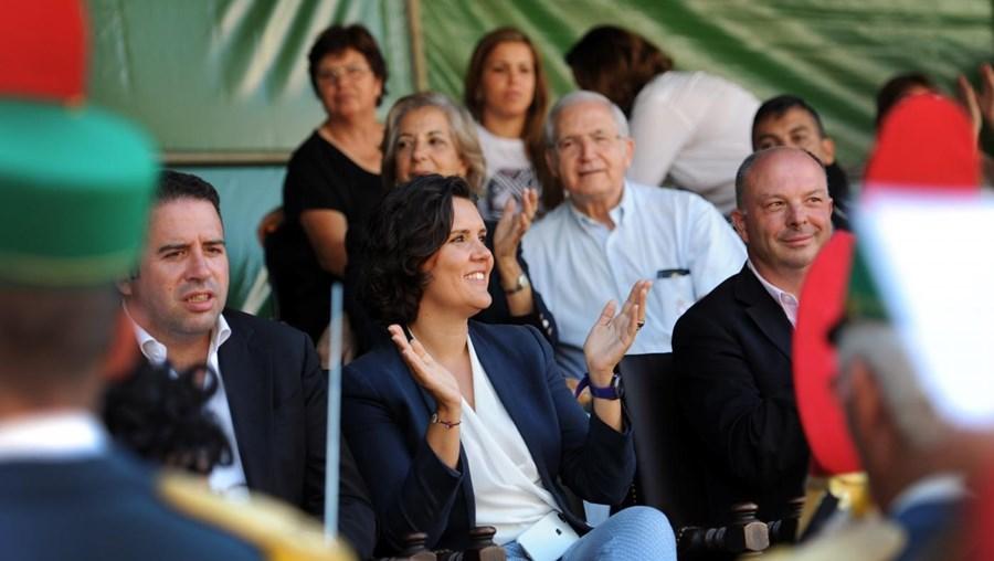 Cristas foi com o marido a assistir ao cortejo histórico dos 190 anos das Feiras Novas de Ponte de Lima