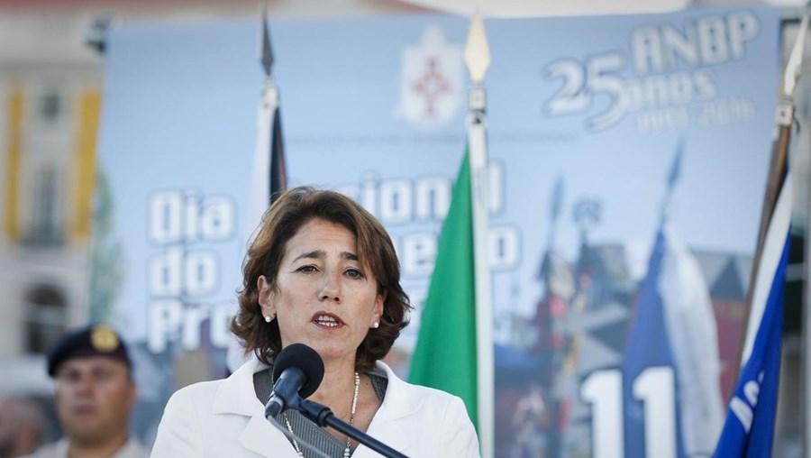 A ministra da Administração Interna, Constança Urbano de Sousa